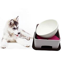 Gato Perro Alimentadores Mascotas Cuencos y Alimentación Ajustable / Retractable