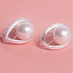 女性用 スタッドピアス クリップイヤリング 人造真珠 シンプル Elegant 人造真珠 ジュエリー 用途 パーティー 日常