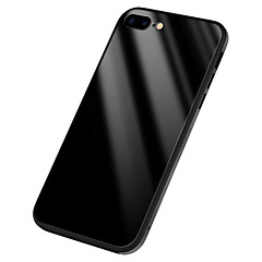 olcso iPhone 7 Plus tokok-Case Kompatibilitás Apple iPhone X Tükör Fekete tok Tömör szín Kemény Szilikon mert iPhone X iPhone 8 Plus iPhone 8 iPhone 7 Plus iPhone