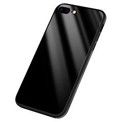 Недорогие Кейсы для iPhone 7 Plus-Кейс для Назначение Apple iPhone X Зеркальная поверхность Задняя крышка Сплошной цвет Твердый Силикон для iPhone X iPhone 8 Plus iPhone 8