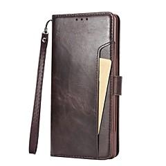 Недорогие Чехлы и кейсы для Galaxy Note 5-Кейс для Назначение SSamsung Galaxy Note 8 Note 5 Бумажник для карт Флип Чехол Сплошной цвет Твердый Кожа PU для Note 8 Note 5