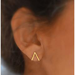 preiswerte Ohrringe-Damen Monogramme Ohrstecker - vergoldet Grundlegend, Modisch Gold Für Alltag Normal