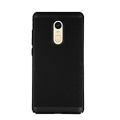 tanie Etui / Pokrowce do Xiaomi-Kılıf Na Xiaomi Redmi Note 4X Redmi 4X Szron Czarne etui Solid Color Twarde PC na Xiaomi Redmi Note 4X Xiaomi Redmi Note 4 Xiaomi Redmi