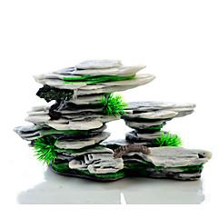 お買い得  アクアリウムデコレーション-アクアリウムの装飾 石 樹脂