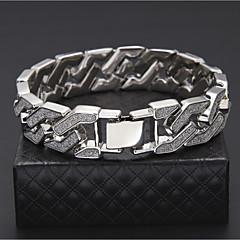 preiswerte Armbänder-Herrn Manschetten-Armbänder / Armband - vergoldet Rockig, Hip-Hop Armbänder Gold / Silber Für Normal / Klub