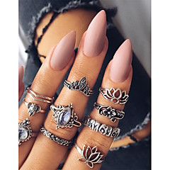 cheap -Women's Knuckle Ring Metallic Vintage Alloy Leaf Jewelry For Daily Bar