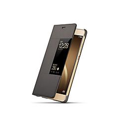 tanie Novinky-Kılıf Na Huawei P9 Flip Automatyczne uśpienie/wybudzenie Futerał Solid Color Twarde PC na Huawei P9 Huawei P9 Plus