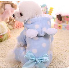 abordables Regalos para Amantes de Mascotas-Perro Mono Ropa para Perro A Lunares Azul / Rosa Otros Materiales Disfraz Para mascotas Hombre / Mujer Casual / Diario