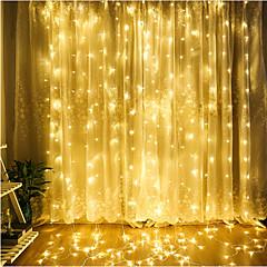 야외 4.5 m x 3m 주도 커튼 고드름 문자열 빛 요정 garland 결혼식 홈 장식에 대 한 방수