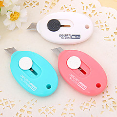Mini Pocket Knife Egg Shape Student Sharp Blade Paper Cutting Tools School Stationery Random Color