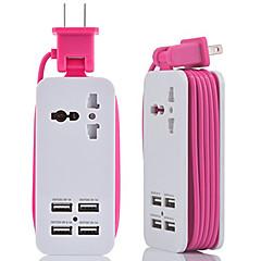 olcso -hzn402 mobiltelefon töltő többfunkciós dugó usb töltő 4usb többcsatlakozó dugó
