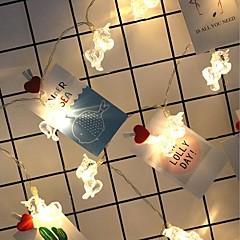 preiswerte LED Lichtstreifen-1m Leuchtgirlanden 10 LEDs Warmes Weiß Einfache Batterie 1pc