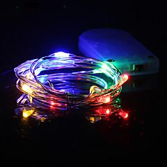 preiswerte LED Lichtstreifen-HKV 1m Leuchtgirlanden 10 LEDs Warmes Weiß / Kühles Weiß / Rot Wasserfest <5 V 1pc / IP65