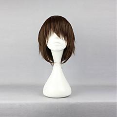 billige Anime Cosplay-Cosplay Parykker Blå Eksorcist Yukio Okumura Anime Cosplay Parykker 35 CM Varmeresistent Fiber Unisex