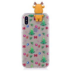 Capinha Para Apple iPhone X iPhone 8 Plus Antichoque Capa Traseira Desenhos 3D Natal Macia TPU para iPhone X iPhone 8 Plus iPhone 8