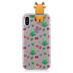 お買い得  iPhone 5S/SE ケース-ケース 用途 Apple iPhone X / iPhone 8 Plus 耐衝撃 バックカバー 3Dカトゥーン / クリスマス ソフト TPU のために iPhone X / iPhone 8 Plus / iPhone 8