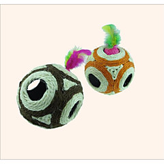Cat Dog Pet Toys Ball Jingle Bell Scratch Pad Light and Convenient Cord Cotton Sisal