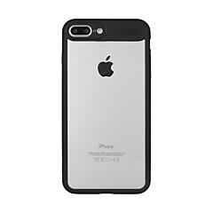 Кейс для Назначение Apple iPhone X iPhone 8 Полупрозрачный Задняя крышка Сплошной цвет С дырочками Твердый Акриловое волокно для iPhone X