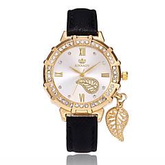 preiswerte Damenuhren-Damen Quartz Armbanduhr Chinesisch PU Band Blätter Freizeit Modisch Schwarz Weiß Blau Rot Gold Lila Rose Himmelblau