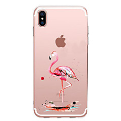 Til iPhone X iPhone 8 iPhone 7 iPhone 7 Plus iPhone 6 Etuier Covere Ultratynn Mønster Bakdeksel Etui Flamingo Myk TPU til Apple iPhone X