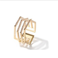 tanie Pierścionki-Damskie mankiet Pierścień 1 Metaliczny Modny Stop Geometric Shape Biżuteria Inny Codzienny
