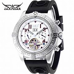 Herrn Armbanduhren für den Alltag Modeuhr Kleideruhr Armbanduhr Automatikaufzug Kalender Caucho Band Freizeit Cool