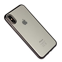 billige Etuier til iPhone 7 Plus-Etui Til Apple iPhone X iPhone 8 Stødsikker Belægning Transparent Bagcover Helfarve Blødt TPU for iPhone X iPhone 8 Plus iPhone 8 iPhone