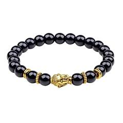 preiswerte Armbänder-Herrn Onyx Strang-Armbänder - Asiatisch, Klassisch Armbänder Schwarz / Silber / Braun Für Geschenk / Ausgehen
