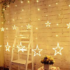 Luces de cortina de estrella 8 modos con 12 estrellas Luces de cadena de 138 cuerdas impermeable a prueba de luces de cadena luz