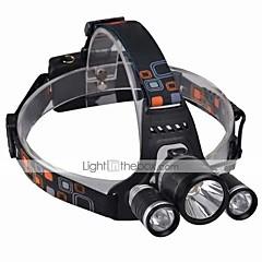 お買い得  ヘッドランプ-ヘッドランプ ヘッドライト LED 2400 lm 4.0 モード LED チャージャー付き 耐衝撃性 充電式 防水 キャンプ/ハイキング/ケイビング 日常使用 サイクリング 旅行 ワーキング 多機能 登山