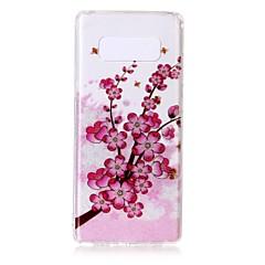 tanie Galaxy Note Edge Etui / Pokrowce-Kılıf Na Samsung Galaxy Note 8 Note 5 Ultra cienkie Przezroczyste Wzór Etui na tył Kwiaty Miękkie TPU na Note 8 Note 5 Edge Note 5 Note 4