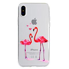 Недорогие Кейсы для iPhone X-Кейс для Назначение Apple iPhone X iPhone 8 Plus С узором Задняя крышка Фламинго Мягкий TPU для iPhone X iPhone 8 Plus iPhone 8 iPhone 7