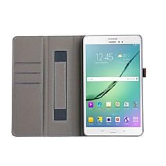 Недорогие Чехлы и кейсы для Galaxy Tab 4 10.1-Кейс для Назначение Tab S 10.5 / SSamsung Galaxy / Вкладка S2 9.7 Tab S2 9.7 / Tab A 10.1 (2016) Кошелек / Бумажник для карт / со стендом Чехол Однотонный Твердый Искусственная кожа для Tab 4 10.1