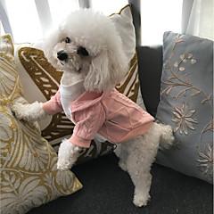 お買い得  猫の服-ネコ 犬 コート セーター パーカー ホリデー・デコレーション 犬用ウェア ホワイト レッド ピンク コットン コスチューム ペット用 パーティー 新しい カジュアル/普段着 保温 レジャー クリスマス