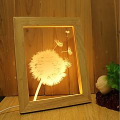お買い得  LED アイデアライト-1セット 3Dナイトライト 調光可能 装飾用 アーティスティック LED コンテンポラリー