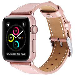 tanie Bransoletki do Apple Watch-pasek do zegarków z serii zegarków jabłoni 3/2/1 skórzana pętelka na nadgarstek