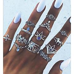 Χαμηλού Κόστους Δαχτυλίδια-Γυναικεία Γεωμετρικό Δαχτυλίδι για τη μέση των δαχτύλων - Κράμα Βίντατζ, Μοντέρνο Ένα Μέγεθος Ασημί Για Καθημερινά