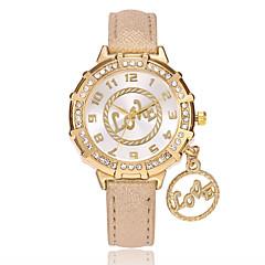 preiswerte Damenuhren-Damen Armbanduhr Quartz PU Band Analog Freizeit Modisch Uhr mit Wörtern Schwarz / Weiß / Blau - Rot Blau Hellblau