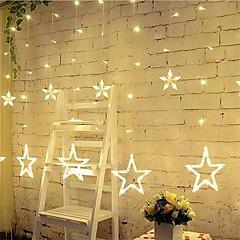 お買い得  LED アイデアライト-3m 12星のライトクリスマスハロウィーンの装飾ライト祭りストリップライトと星(220v)