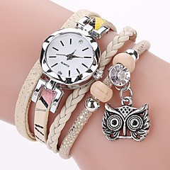 preiswerte Tolle Angebote auf Uhren-Damen Armband-Uhr / Simulierter Diamant Uhr Chinesisch Imitation Diamant PU Band Freizeit / Böhmische / Modisch Schwarz / Weiß / Blau / Ein Jahr
