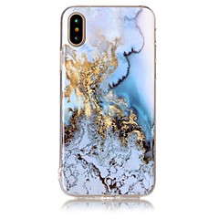 Para iPhone X iPhone 8 Case Tampa IMD Estampada Capa Traseira Capinha Mármore Macia PUT para Apple iPhone X iPhone 8 Plus iPhone 8 iPhone