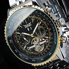 cheap Steel Band Watches-Jaragar Men's Fashion Watch / Skeleton Watch / Wrist Watch Calendar / date / day / Cool Stainless Steel Band Luxury / Casual / Automatic self-winding