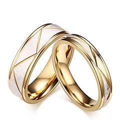 preiswerte Ringe-Herrn Damen Ring Verlobungsring Ringe Set - Titanstahl Stilvoll 6 / 7 / 8 / 9 / 10 Gold Für Hochzeit Party / Abend Party