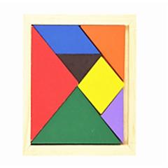 billige børn Puslespil-Tangram Træpuslespil Geometrisk form Skole Familie Skole/Studentereksamen