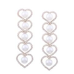 preiswerte Ohrringe-Damen Tropfen-Ohrringe - Künstliche Perle Herz Klassisch, Modisch Gold Für Zeremonie Party