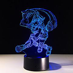 3Dステレオのビジュアルクリエイティブな夢の光ロマンチックなナイトライトのUSBまたは3 * aaaバッテリー駆動(バッテリーなし)