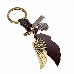 お買い得  キーホルダー-キーチェーン ゴールド 翼 / 羽 レザー, 合金 ヴィンテージ, ファッション 用途 日常 / お出かけ