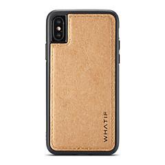 Недорогие Кейсы для iPhone 6-Кейс для Назначение Apple iPhone X iPhone 8 Своими руками Кейс на заднюю панель Сплошной цвет Твердый деревянный для iPhone X iPhone 8