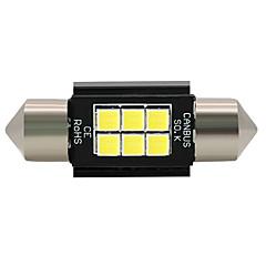 4x 2018 novo 3030led erro livre branco 36mm festão prato placa lâmpada 6smd c5w 12-24v