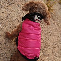 abordables Ropa para Gato-Gato Perro Abrigos Saco y Capucha Mono Ropa para Perro Estampado Tiaras y Coronas Fucsia Poliéster Material impermeable Disfraz Para
